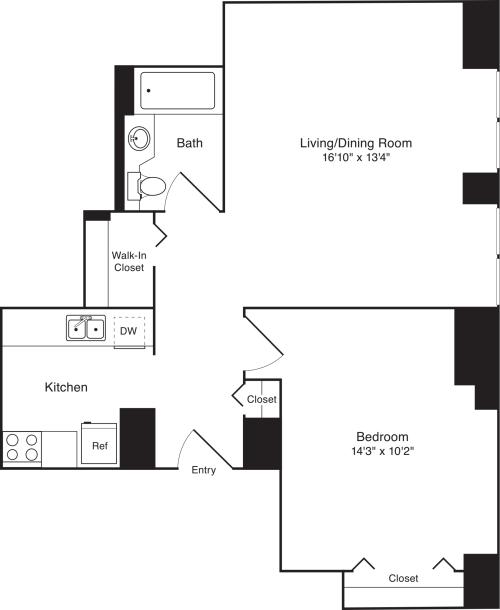 Residence T, floors 3-17