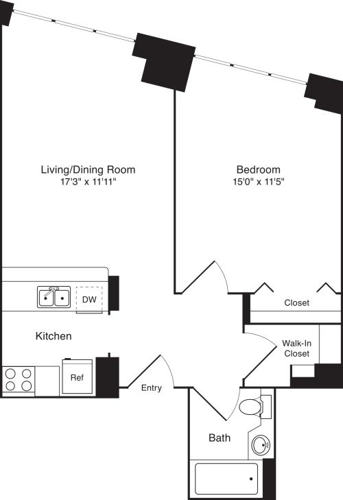 Residence V, floors 3-17