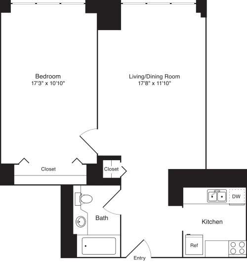 Residence L, floors 3-17