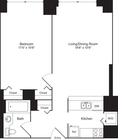 Residence E, floors 18-20