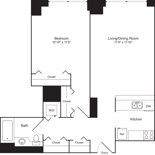 Residence G, floors 18-20