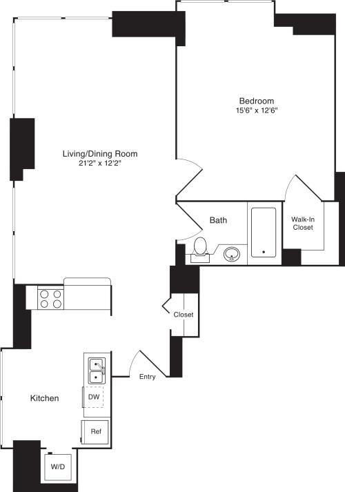 Residence C, floors 22-33