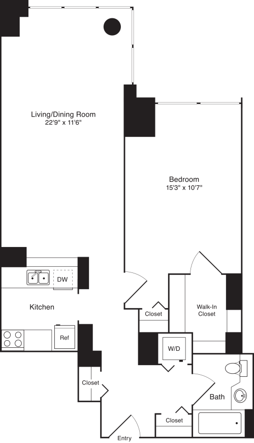 Residence P, floors 5-17