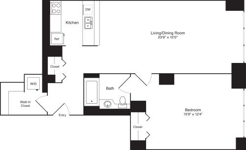 Residence A, floors 4-17