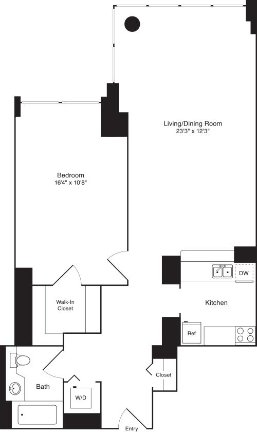 Residence H, floors 5-17