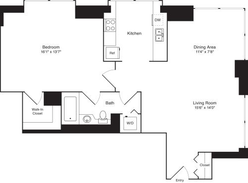 Residence B, floors 22-33