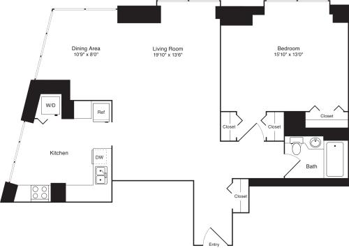 Residence L, floors 19-20