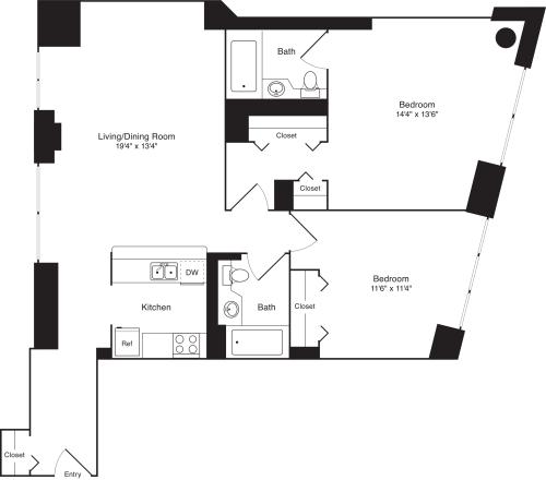 Residence U, floor 3-8