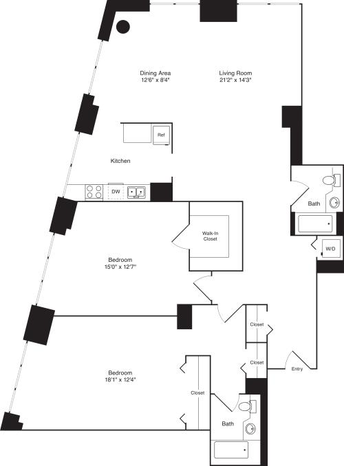 Residence S, floors 3-17