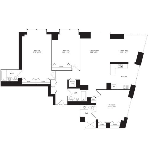Residence A, floors 19-20