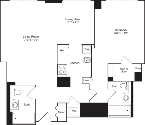 Residence, Floors 21F-36F