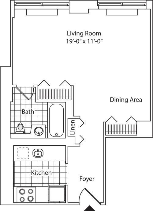 Residence F, floor 20