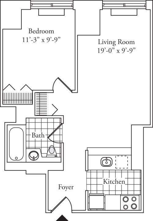 Residence 03, floors 3-6