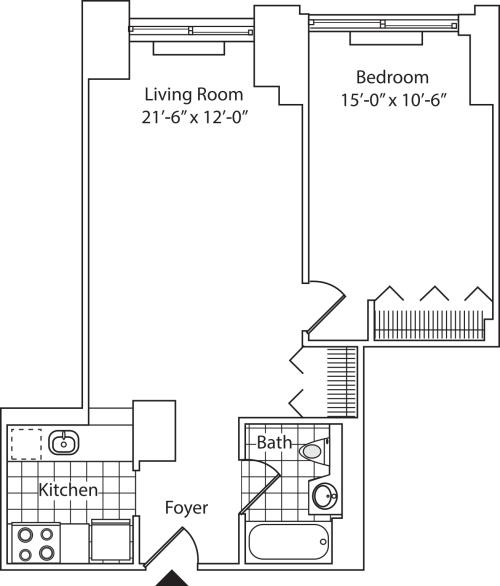 Residence R, floors 5-17