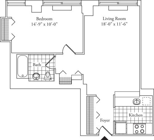 Residence H, floors 3-17