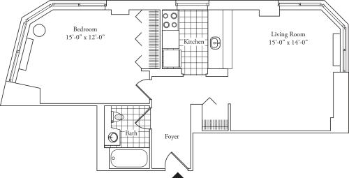 Residence D, floors 8-17