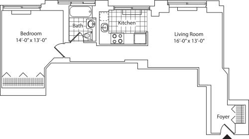 Residence C, floors 21-36