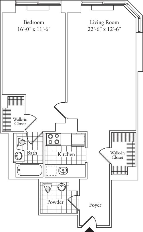 Residence P, floors 8-17