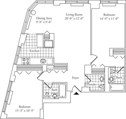 Residence G floor 19, Residence H floor 20