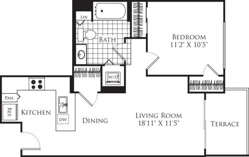1 Bedroom FP 11