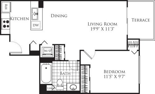 1 Bedroom FP 20