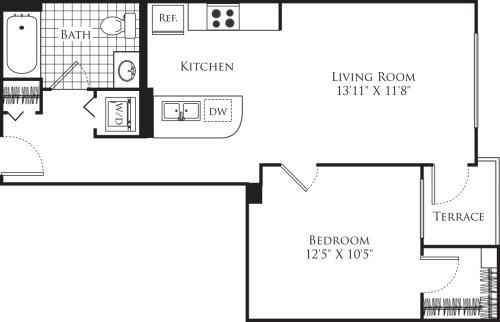1 Bedroom FP 23