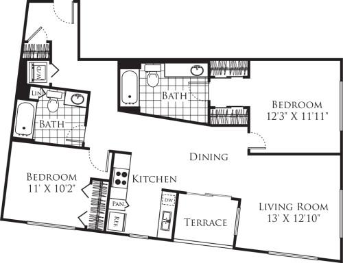 2 Bedroom FP 17