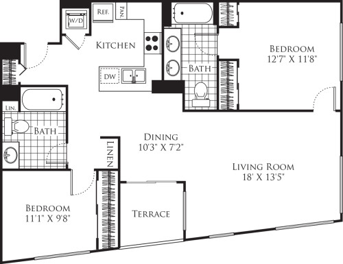 2 Bedroom FP 22