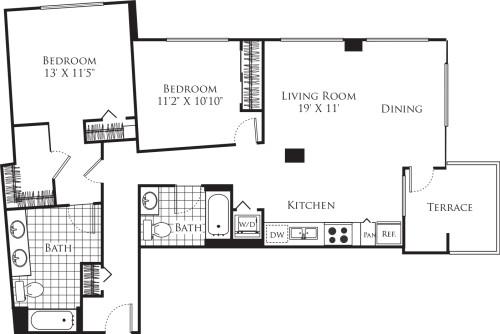 2 Bedroom FP 30