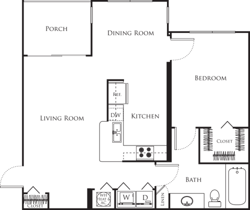 One Bedroom C