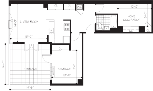 2A Penthouse with Terrace