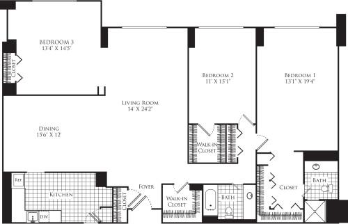 3 Bedroom E