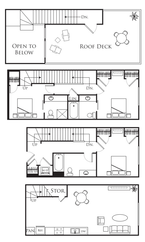 3F - 3 Bedroom Townhome