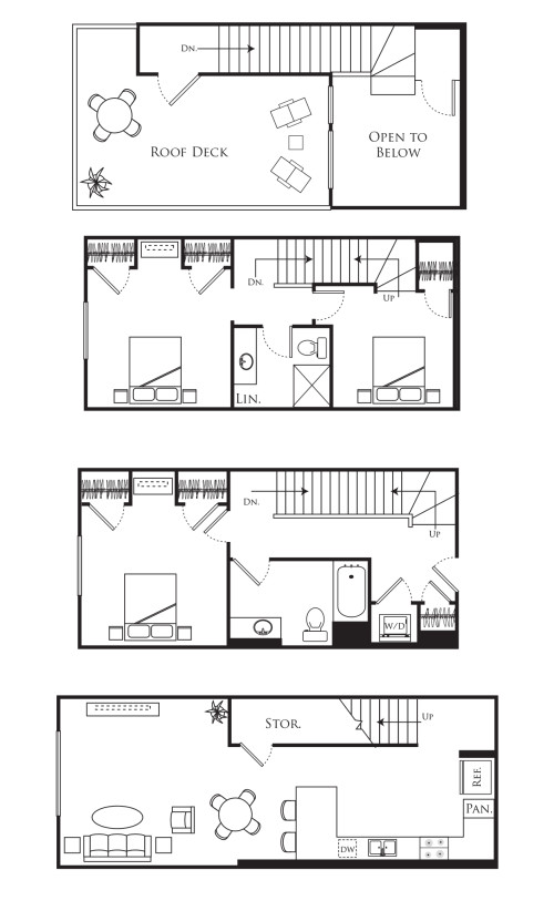 3E - 3 Bedroom Townhome, Large