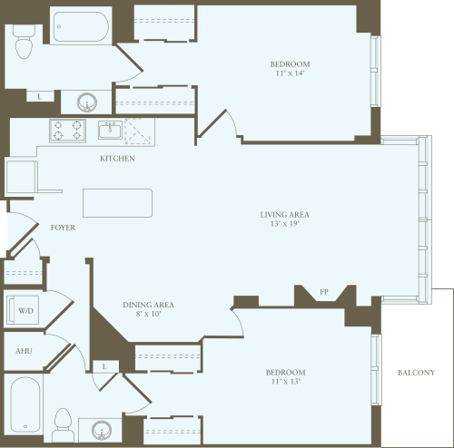 2 Bedrooms CC