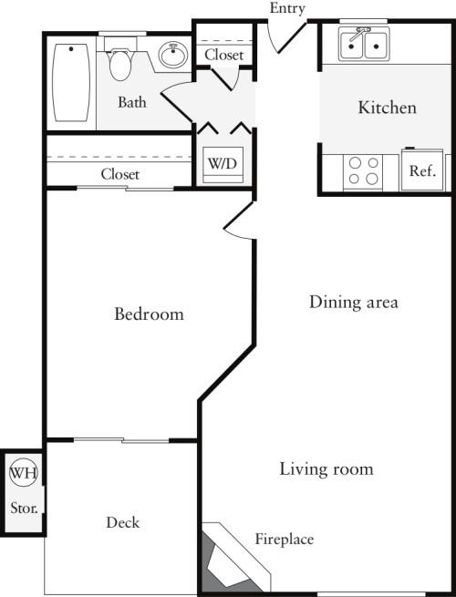 1 Bedroom B (HS)