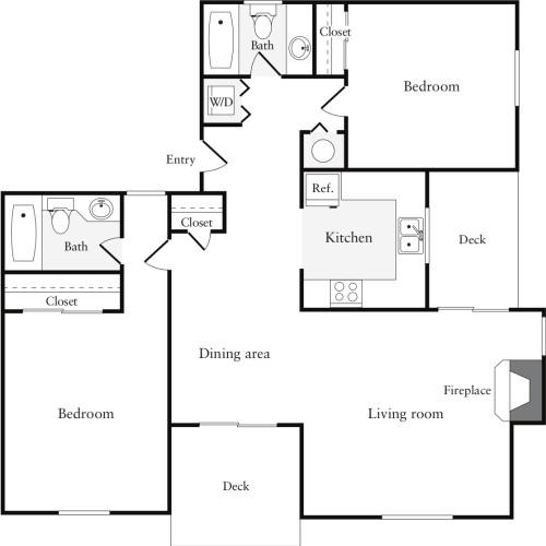 2 Bedrooms B (HS)