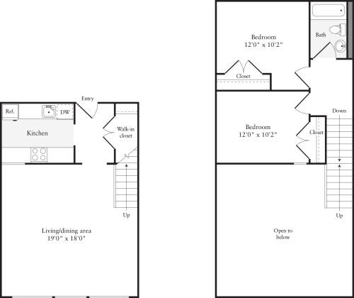2 Bedrooms P