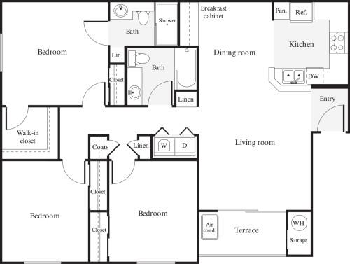 3+ Bedrooms A