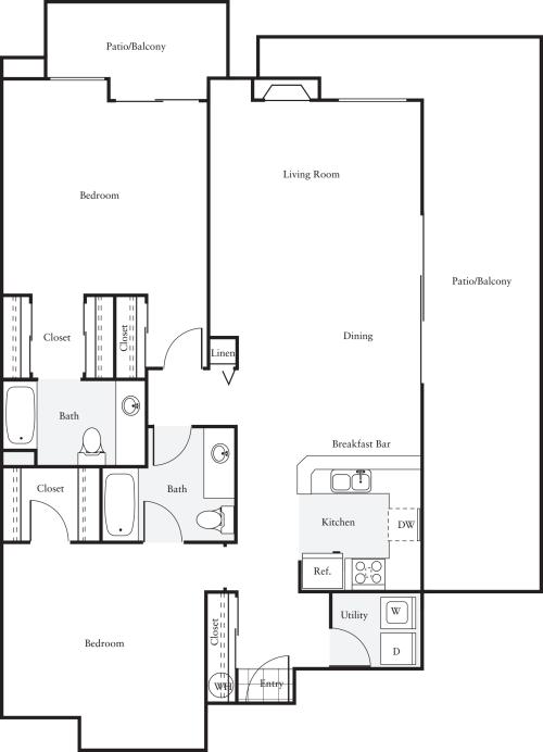 2 Bedrooms K