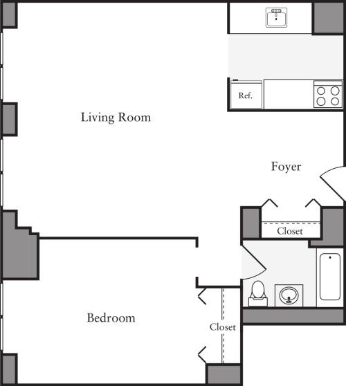 1 Bedroom S