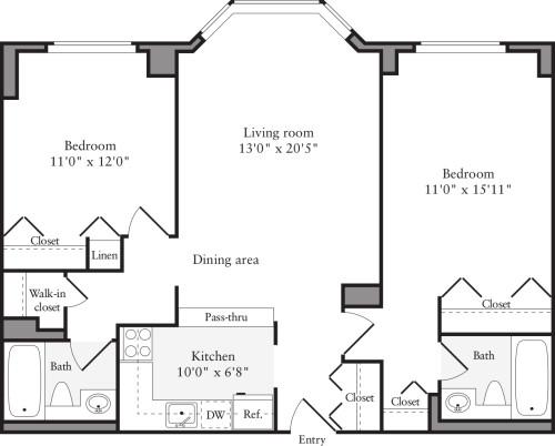 2 Bedrooms P & U