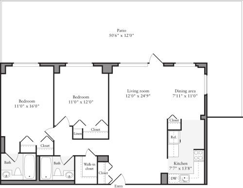 2 Bedroom X with Terrace