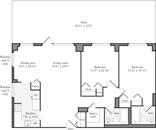 2 Bedrooms Y with Terrace