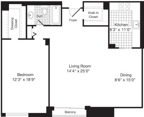 1 Bedroom J