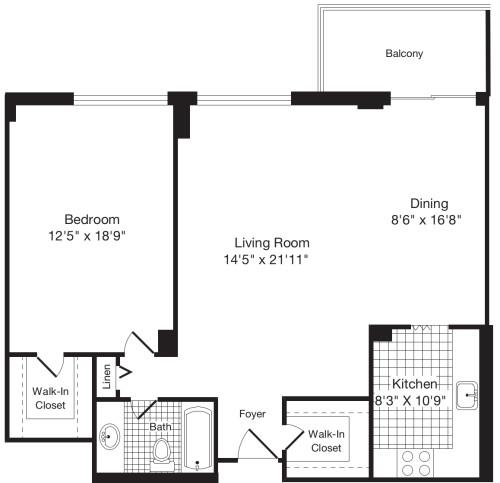 1 Bedroom V