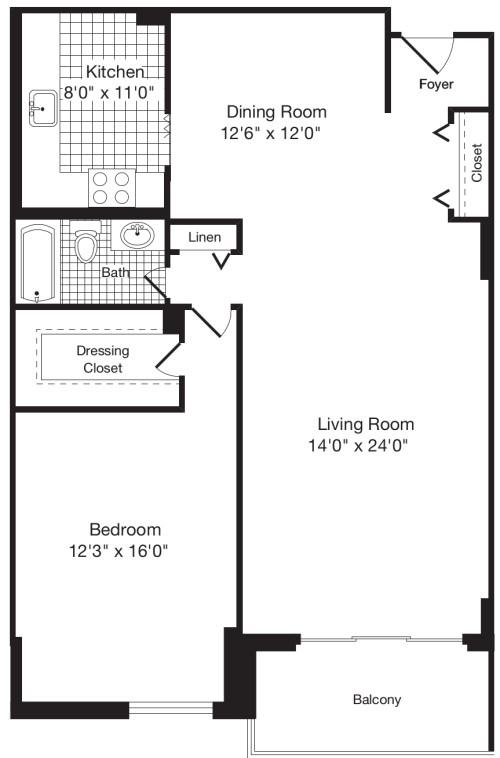 1 Bedroom AA