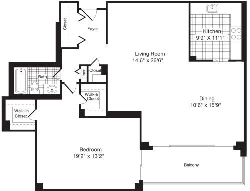 1 Bedroom II