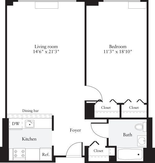 1 Bedroom L