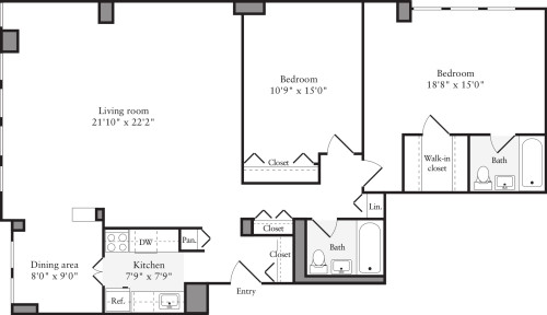 2 Bedrooms I2